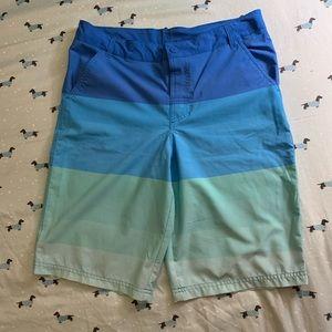 boy's stripe swim trunks